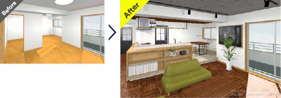最新CADにてリノベイメージをご提案します